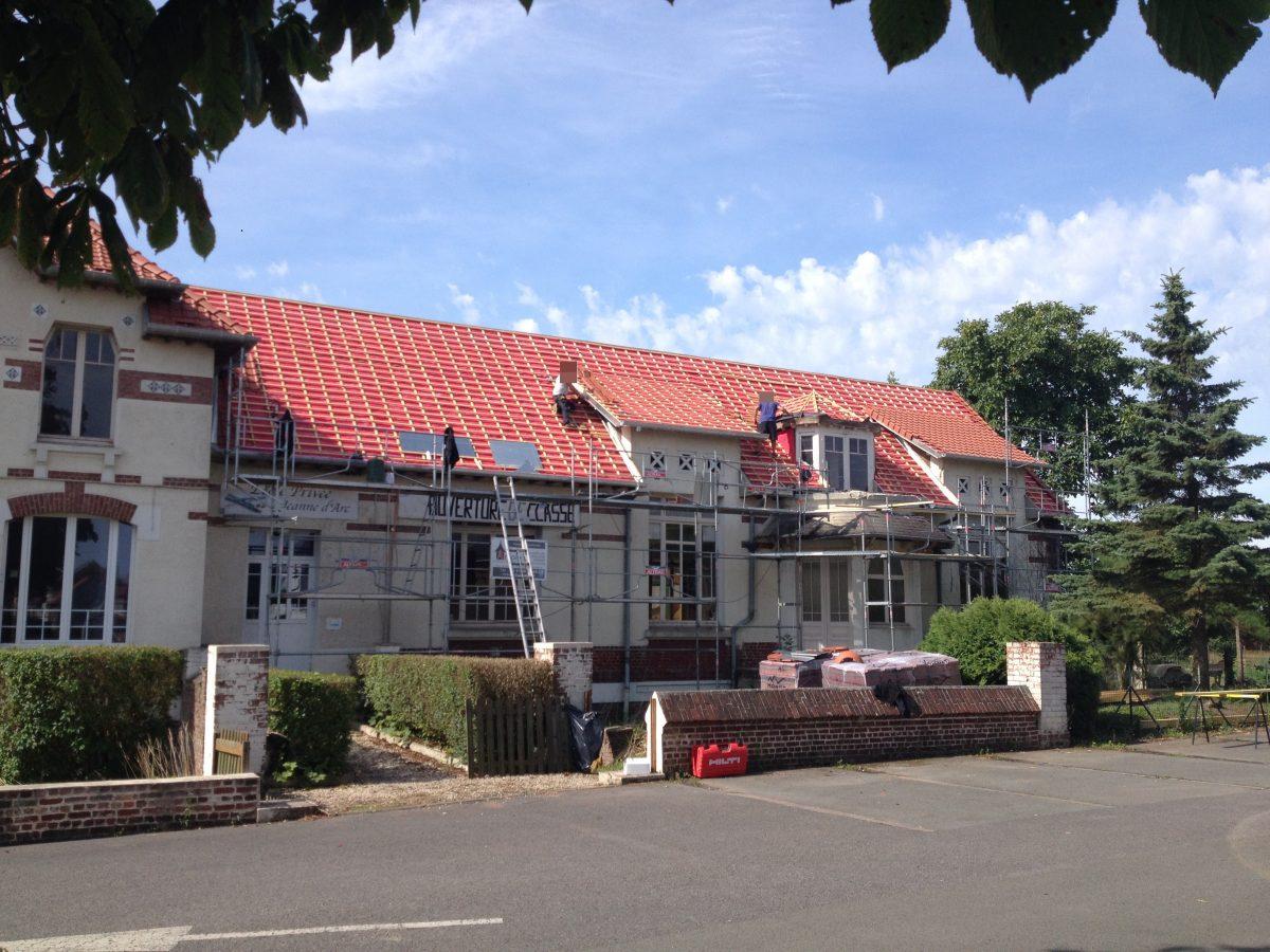 travaux estivaux de la toiture